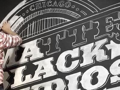 Matte Black Studios Mural WIP #2 vector mural seal typography chalk wip matte black studios work in progress