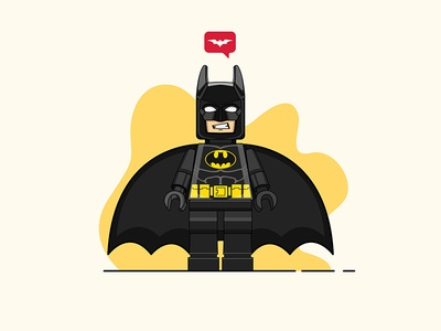 Lego Batman Illustration