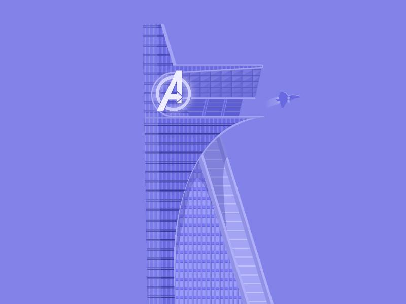 Avengers Tower By Raikchak Ha Reang Dribbble Dribbble