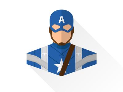 Captain America First Avenger | Flat design