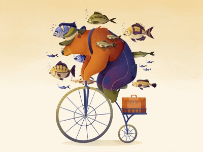 Cycling Bear texture brushes procreate brushes procreate art digital painting kids illustration design digital art woman illustration bike fish bear procreate design illustration creativity kids illustration illustration digital digitalilustration children childrens illustration