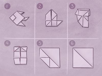 Thoughtful Communication communication purple cognition instructions paper origami illustration
