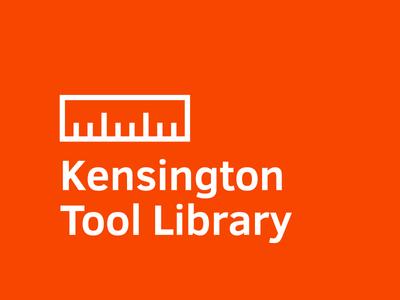 Tool Library Logo community lending coop co-op skyline bookshelf ruler orange identity logo library tool