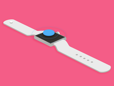 Smart watch technology tech watch simple product perspective illustration technical illustration product illustration smart watch