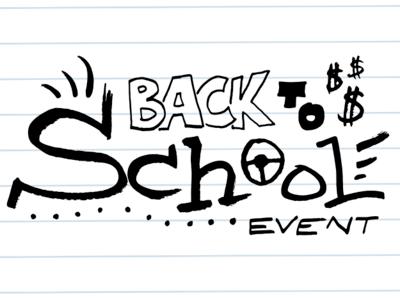Back To School Event logo illustration logo stonebriar chevrolet mccarthy companies automotive sales event