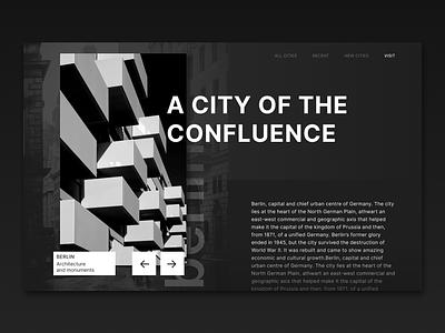 Art History Page web history berlin black typography illustration ux ui minimal design