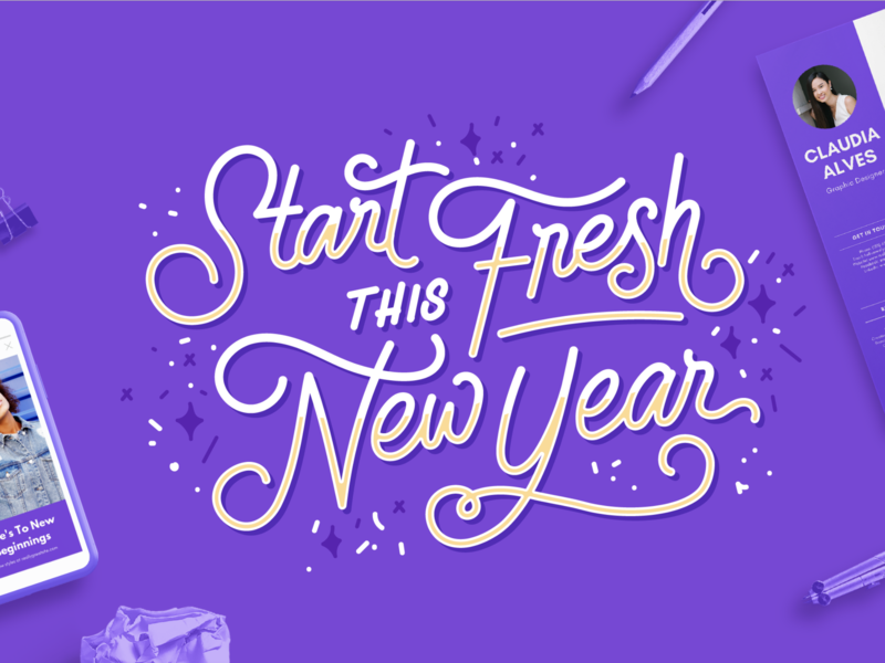 New Year Lettering for Canva by Gian Wong for Canva on Dribbble