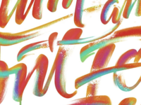 Painterly Lettering