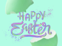 Painterly Lettering - Easter