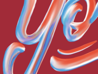 Painterly Lettering WIP