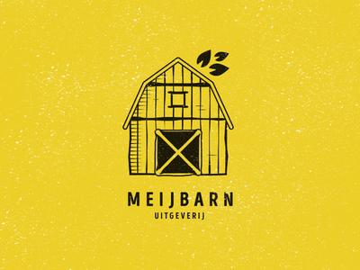 Meijbarn Logo ochre vintage books barn publisher logo