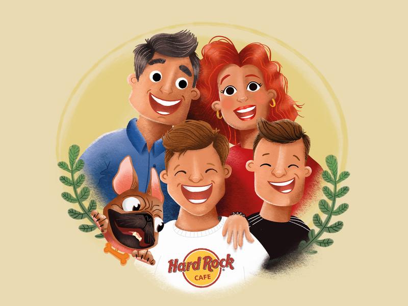 Family Illustration family portrait together character portrait illustartion family