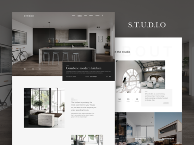 S.T.U.D.I.O - Interior & Architecture Website Concept