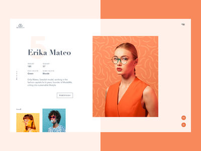 Model Agency Website Concept colors fashion typography page web modeling model landing website ux ui design