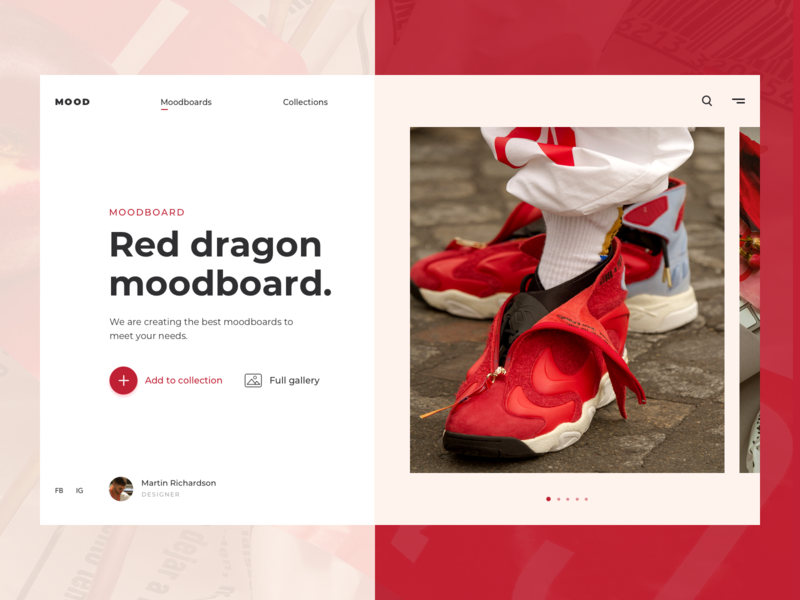 Moodboard Web UI ux design ui design shoes collection fashion product page product mood board moodboard mood minimal page web landing website design ux ui
