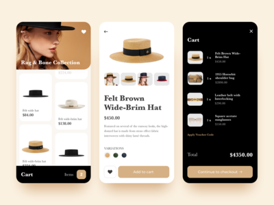 Fashion Mobile App UI (Part II)