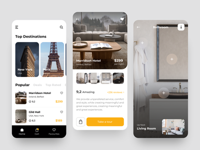 Hotel Booking App UI shopping cart mobile ux design ui tour product page product card app booking hotel