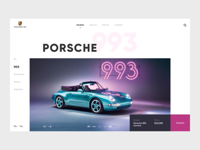 Porsche Website Landing