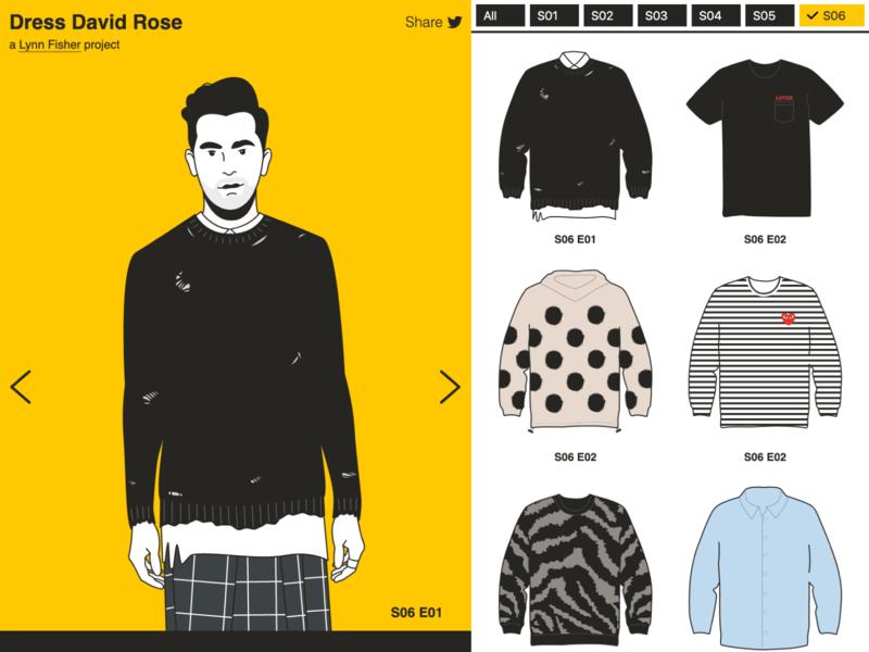 Dress David Rose css david rose fashion sweater illustration ui web