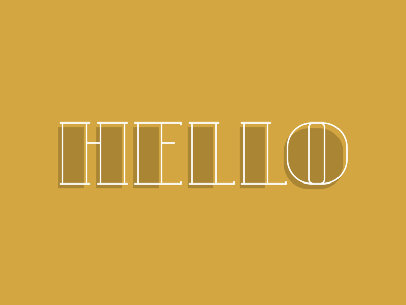 Single div CSS Hello hollow hello illustration css lettering