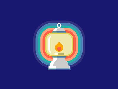 Single div CSS lantern #divtober bright glow light flame lantern illustration code css