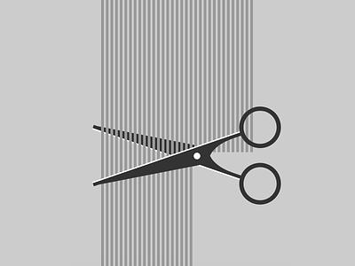 Single div CSS haircut #divtober clip cut hair haircut scissors illustration code css