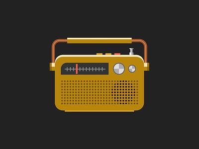Single div CSS radio #divtober music radio code css illustration