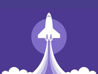 Single div CSS rocket #divtober shuttle launch cloud rocket ship rocketship illustration code css