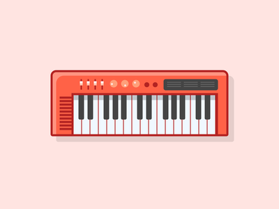 Single div CSS keyboard #divtober piano music keyboard illustration css code