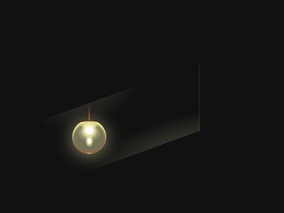 Single div CSS Parasite lamp #divtober glow pendant movie film parasite dark light lamp illustration code css