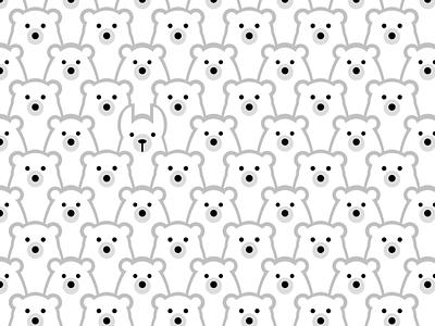Single div CSS imposter #divtober hidden llama polar bears bears pattern repeating illustration code css