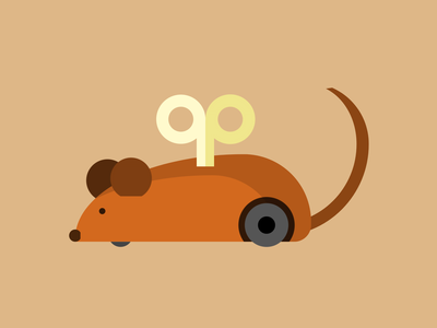 Single div CSS wind up mouse #divtober wind-up winding rat vintage toy wind up mouse illustration code css
