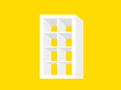 Single div CSS IKEA bookshelf #divtober furniture shelf bookshelf expedit kallax ikea illustration code css