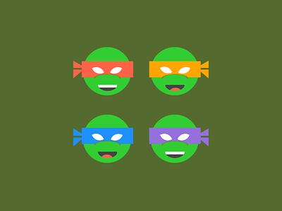 Single div CSS TMNT #divtober cartoon teenage mutant ninja turtles illustration turtle tmnt code css