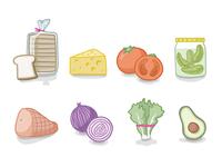 Sandwich components