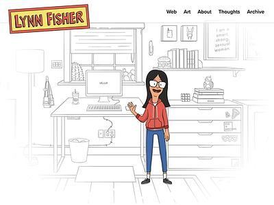 Portfolio Refresh 2018 bobs burgers animation responsive illustration web
