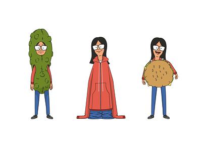 Lynn's Burgers characters bobs burgers illlustration