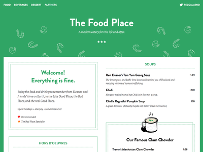 The Food Place web the good place food menu restaurant