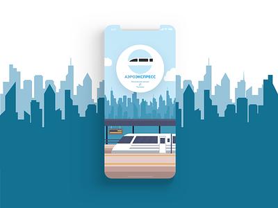 Aeroexpress (concept app) mainscreen ios express logotype logo aero flat design illustration app ux ui