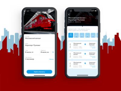 Aeroexpress (work screens)