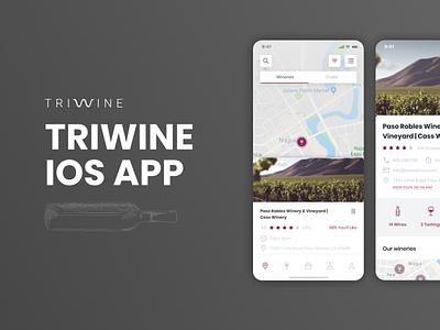 Triwine Cover | UI/UX design app design app degustation ui design uidesign ui  ux uiux ui wine bottle wine glass wine label winery wine
