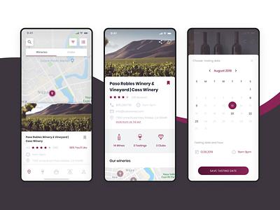Wine app global map map clean ui clean ios wine label winery wine design ux ui app
