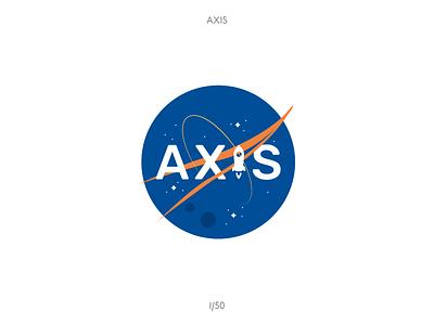 AXIS Logo dailylogochallenge nasa aero flat illustration vector design logo