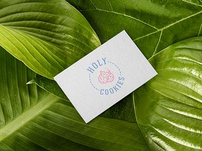 Holy Cookies (Logo & Visit card) mockup visit card visit icon typography dailylogochallenge brand logo design