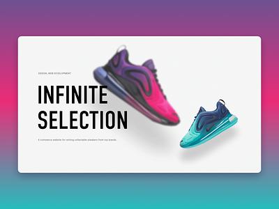 Sneakers rent web flat ux ui design