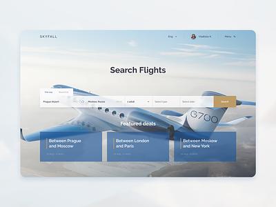 SKYFALL - private flight rentals rent private skyfall sky fly brand ux ui design