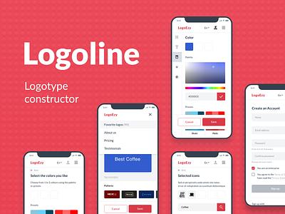 Logoline - logo constructor logoline logotype mobile design constructor adaptive web ux ui logo