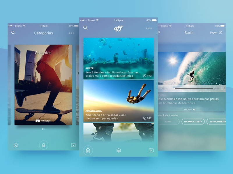 Outdoor Sports Video App radical skydiving dive skate ios surf app sports