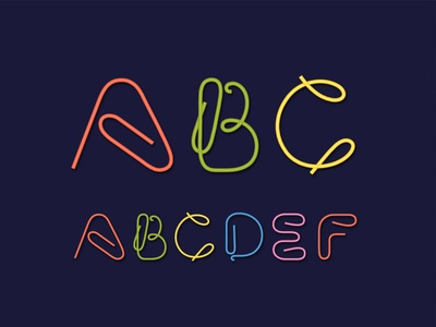 Clip Font Design