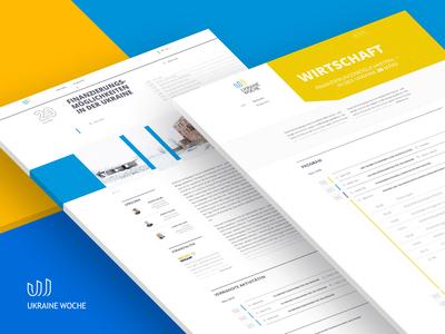 Web Design for Ukrainian Week in Berlin